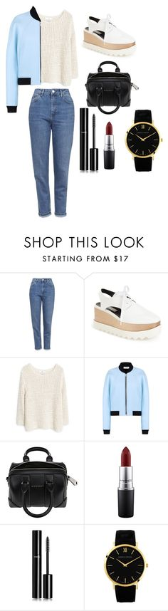 """Sans titre #222"" by leoniemika on Polyvore featuring mode, Topshop, STELLA McCARTNEY, MANGO, Balenciaga, Givenchy, MAC Cosmetics, Chanel, Larsson & Jennings et women's clothing"