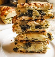 Kale and Artichoke Grilled Cheese Sandwiches by On the Move, In the Galley