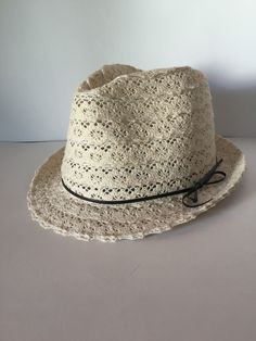 Women's or Teen's Ivory Lace Fedora with your choice of custom guitar pick message