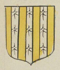 Michel CHAPILLAIS, Greffier en titre de l'Election de Saumur. Porte : d'or, à trois pals d'hermines | N° 198 > Saumur