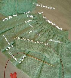Fotografia - Her Crochet Baby Boy Knitting Patterns, Knit Patterns, Baby Girl Sweaters, Bag Pattern Free, Wool Socks, Easy Knitting, Diy Dress, Diy Crochet, Lace Ruffle