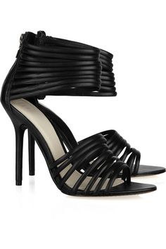 Hervé Léger Strappy leather sandals