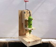 Ted's Woodworking Plans - Enjoy on your woodworking projects with precision tool like this DIY drill press! Get A Lifetime Of Project Ideas & Inspiration! Step By Step Woodworking Plans Woodworking Crafts, Woodworking Tools, Woodworking Furniture, Sketchup Woodworking, Woodworking Jigsaw, Unique Woodworking, Woodworking Equipment, Woodworking Machinery, Popular Woodworking