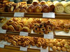 Japanese bakeries are truly the best. at every train station you make the hike up and out and stop at the bakery to catch your breath. Japanese Bakery, Japanese Pastries, Japanese Sweets, Japanese Food, Cute Food, Yummy Food, Melon Bread, Snack Recipes, Cooking Recipes