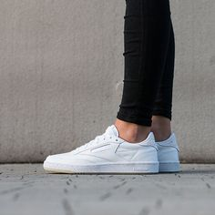 7df4c59ae43dc1 Women s Shoes sneakers Face Stockholm x Reebok Club C 85 AR1407 White  Tennis Shoes