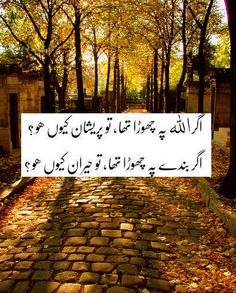 If you had left it on Allah, then why are you worried? If you had left it on people, then why are you surprised?