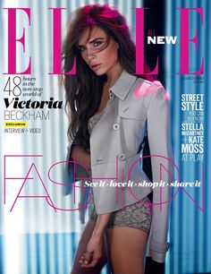 CARTER SMITH  Victoria Beckham Smolders in Burberry on Elle UK's March 2013 Cover