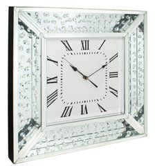 beautiful floating crystal and mirror wall clock