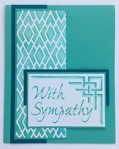 #Cre8time for teal and southwest stenciled sympathy cards. #Stampendous #metalstencils #DIYcards
