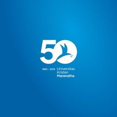 50 Years of Maranatha University, Bandung (Indonesia) Logos, Logo Branding, Branding Design, Logo Aniversario, 50th Anniversary Logo, Uk Logo, Conference Logo, Vertical Business Cards, Cool Lettering