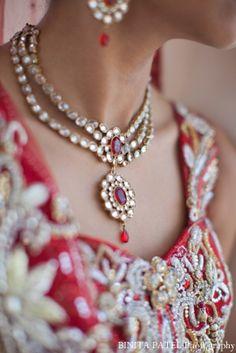 Classic indian bridal jewelry set.