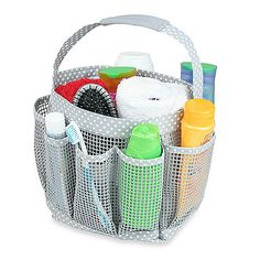 Mesh Shower Tote http://www.bedbathandbeyond.com/store/product/mesh-shower-tote/127960?categoryId=10622