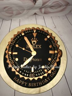 Rolex cake You are in the right place about cup Cake Design Here we offer you the most beautiful pictures about the fruit Cake Design you are looking for. When you examine the Rolex cake part of the p Birthday Cakes For Men, Birthday Cake For Father, Toddler Birthday Cakes, Funny Birthday Cakes, Homemade Birthday Cakes, Cake Designs For Boy, Cake Design For Men, Fruit Cake Design, Beautiful Cakes