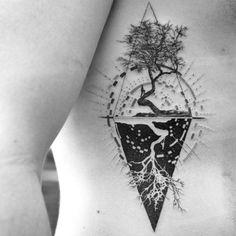 Trendy ideas for geometric tree tattoo style Trendy Tattoos, Tattoos For Guys, Tattoos For Women, Cool Tattoos, Gorgeous Tattoos, Arrow Tattoos, Mandala Tattoo Design, Tree Tattoo Designs, Time Tattoos