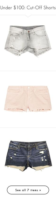 """""""Under $100: Cut-Off Shorts"""" by polyvore-editorial ❤ liked on Polyvore featuring under100, cutoffshorts, Sans Souci, J Brand, RVCA, Genetic Denim, Madewell, shorts, grey and distressed shorts"""