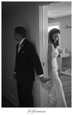 First Look | Wedding Couple Shot | Destination Wedding Photography | Creative Wedding Photography | Dramatic Wedding Photography | KiKi Creates | Vintage Wedding | Jacksonville Beach Weddings