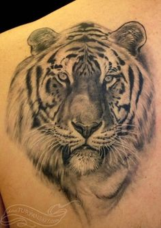 Image detail for -Arm Comments Black And Gray Realistic Lion Lamb Tattoo
