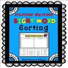 Sight Word Sorting - Pre-Primer and Primer This pack is a fun way for students to practice their sight words in class! This product includes 84 of the Dolch Pre-Primer and Primer Sight Words and is designed to get students to actively explore their words.