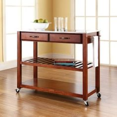 Crosley Furniture Stainless Steel Top Kitchen Island #ZoostoresPin2Win