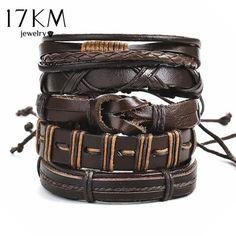 Vintage Jaune Motard Handmade Cowboy Qualité en Cuir Wrap Bracelet Cuff Bangle