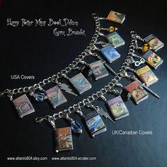 Harry Potter Mini Book Deluxe Charm bracelet  (etsy)