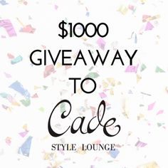 Win a $1000 shopping spree to Cade Style Lounge