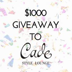 Win a $1000 CDN shopping spree to Cade Style Lounge