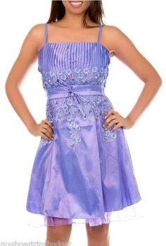 Lavender and Lilac Iridescent Satin Cocktail Prom Special Event Jr Dress UNDER $15