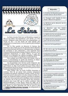 Petite description de la Seine avec 15 questions - Fiches FLE