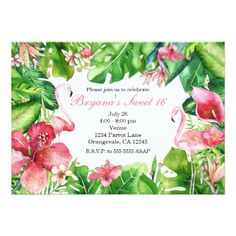 #invitations #wedding #bridalshower - #Flamingo Tropics Summer Birthday Party Invitations