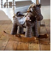Rufus and Ted Rocking Horse heritage luxury fabric Child Gift Ideas Animals Walking Toys  Buy online at www.jinneyring.co.uk