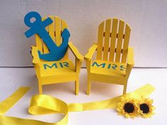 Nautical Anchor Beach chair cake by NauticalWeddings on Etsy