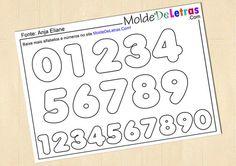 Molde de Letras e Números Anja Eliane - Molde de Letras | numbers and letters templates for felt