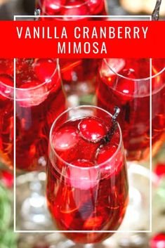 Vanilla Cranberry Mimosa - the perfect holiday cocktail.