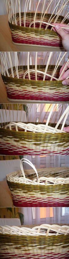 Exposure Trailer - Pedigo and Recycle Bin Paper Basket Weaving, Willow Weaving, Weaving Art, Newspaper Basket, Newspaper Crafts, Diy Arts And Crafts, Handmade Crafts, Handmade Headbands, Handmade Rugs