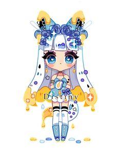 [ OC ] Honey fox by on DeviantArt Chibi Kawaii, Cute Anime Chibi, Kawaii Anime, Chibi Characters, Cute Characters, Isometric Art, Fox Girl, Cute Kawaii Drawings, Cute Art Styles