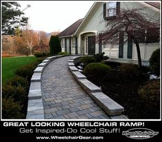 Cool Wheelchair Ramp! Get Inspired And Do Cool Stuff! Www.WheelchairGear.com Awesome Design