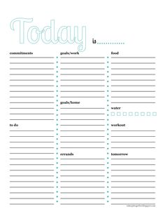 Free printable daily hourly planner