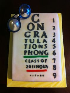 Optometry Eye Exam Chart Graduation Cake-cakecentral.com/gallery/2061597/optometry-eye-exam-chart-graduation-cake#