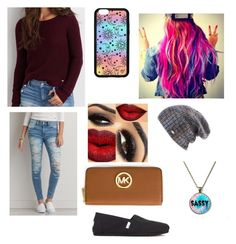 """""""Fall #9"""" by bdunsieth on Polyvore featuring American Eagle Outfitters, Forever 21, TOMS, Spacecraft and MICHAEL Michael Kors"""