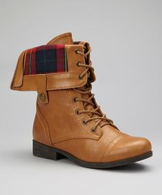 Take a look at this Camel Fold-Over Freda Boot by Bumper on #zulily today!