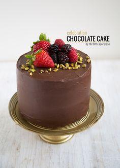 Celebration Chocolate Cake via The Little Epicurean #recipe