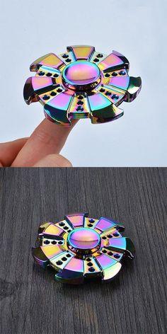 Colorful Focus Toy Wheel Shape Finger Gyro