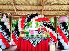 farm party decoration balloons - Buscar con Google
