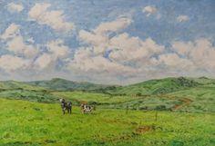 Duas Vaquinhas (Pintura),  27x41 cm por Julio Cesar Óleo s/ Eucatex