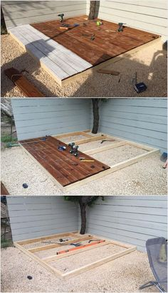 Next presents you with the idea of DIY pallet deck option for wood pallet transforming! This is basically a small size of deck which you can perfectly place in your garden area. It is not important that you create a deck that is small in size. You can even design the size that can be medium or large in size.