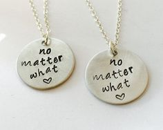 No Matter What Necklace Set Hand Stamped by UniquelyImprint