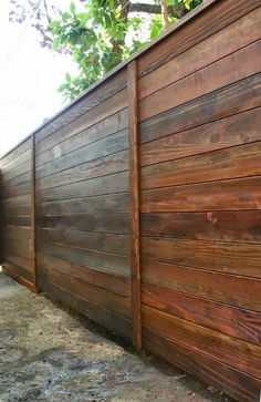 How to build a horizonal ipe fence Horizontal fence Fences and