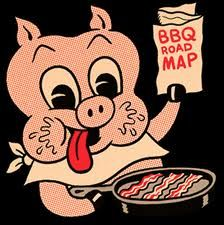 A pig licking his chops over a frying pan full of bacon. now we need a fox enjoying a nice fur coat. And maybe a cow salivating over a big glass of milk. Bbq Grill, Barbecue, Grilling, Bbq World, Smoke Bbq, Bar B Q, Chuck Wagon, Cute Creatures, Comic Books Art
