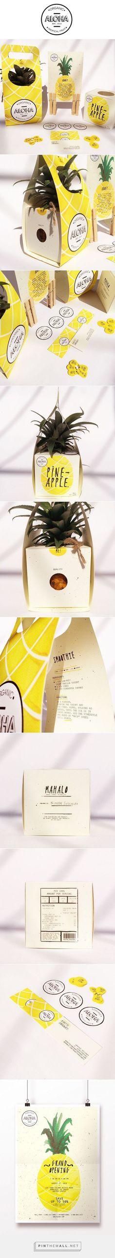 ALOHA Branding and Packaging, Ninette Saraswati. Packaging Box Design, Fruit Packaging, Pretty Packaging, Packaging Design Inspiration, Brand Packaging, Product Packaging, Package Design, Packaging Boxes, Design Ideas
